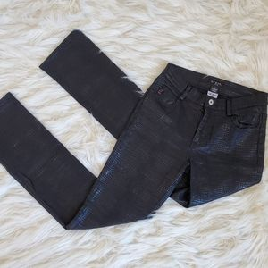 Rare GUESS Faux Snakeskin Leather Pants